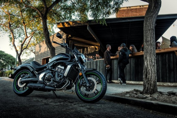 Honda Vulcan S bar view