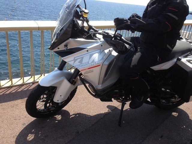 KTM 1290 Super Adventure sea view