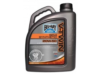 BEL-RAY V-TWIN SEMI-SYNTHETIC 20W50 4L