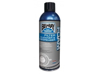BEL-RAY SPRAY DEGRESANT FOAM FILTER CLEANER & DEGREASER 400ML