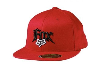 FOX  Vertigo Fitted Hat -58578 Red
