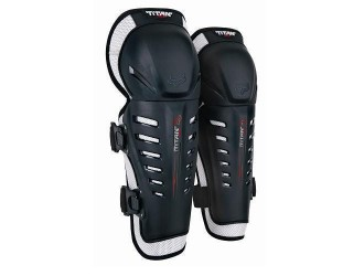 FOX  Titan Race Knee/Shin Guard -06193 Black