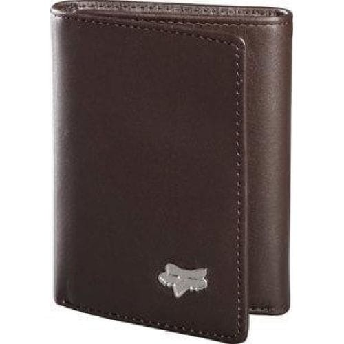 PROMOTIONALE ATVROM FOX  Leather Trifold Wallet -59016-081 Brown