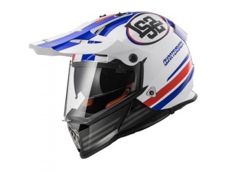 LS2 MX436 Pioneer Quarterback White Red Blue