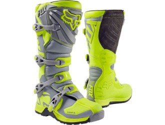 FOX Comp 5 Boot Yellow Grey MX17