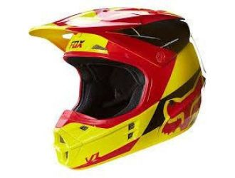 FOX  MX-HELMET INTL ONLY V1 MAKO HELMET ECE YELLOW