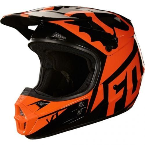 Casti FOX  V1 Race Helmet  Black-Orange