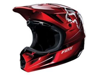 FOX  V4 FUTURE HELMET ECE RED