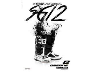 Gaerne  BOOTS SG 12 WHITE BLACK LIMITED EDITION