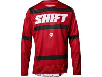 Shift  3LACK STRIKE JERSEY DARK RED