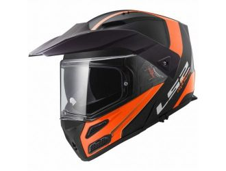 LS2 FF324 METRO EVO RAPID Matt Black Orange Fog Fighter Pinlock