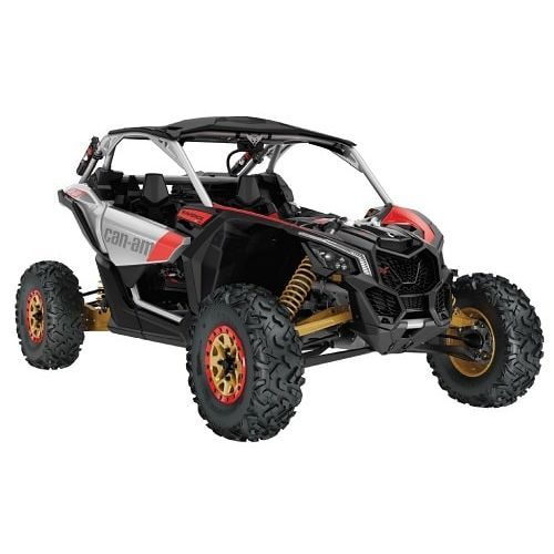 Lichidari stoc SXS Can-Am Maverick X rs Turbo R Silver-Gold-Red '19