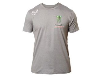 FOX FOX MONSTER PC SS TEE [HTR DRK GRY]