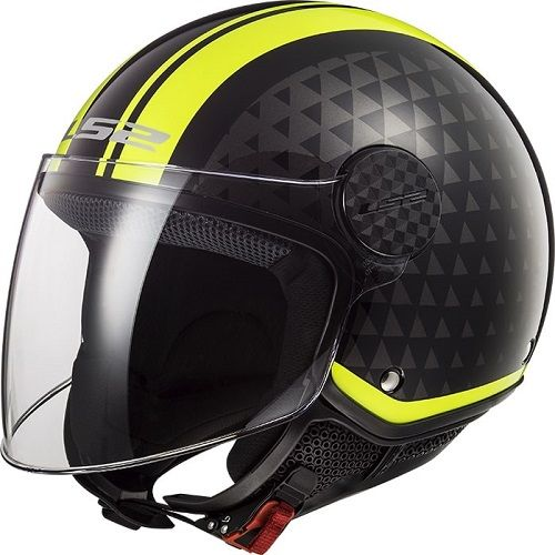Casti LS2 OF558 Sphere Lux Crush Black H-V Yellow