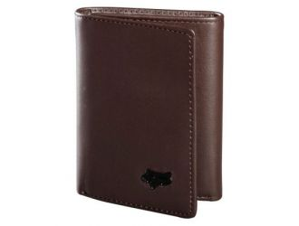 FOX TRIFOLD LEATHER WALLET [BRN]