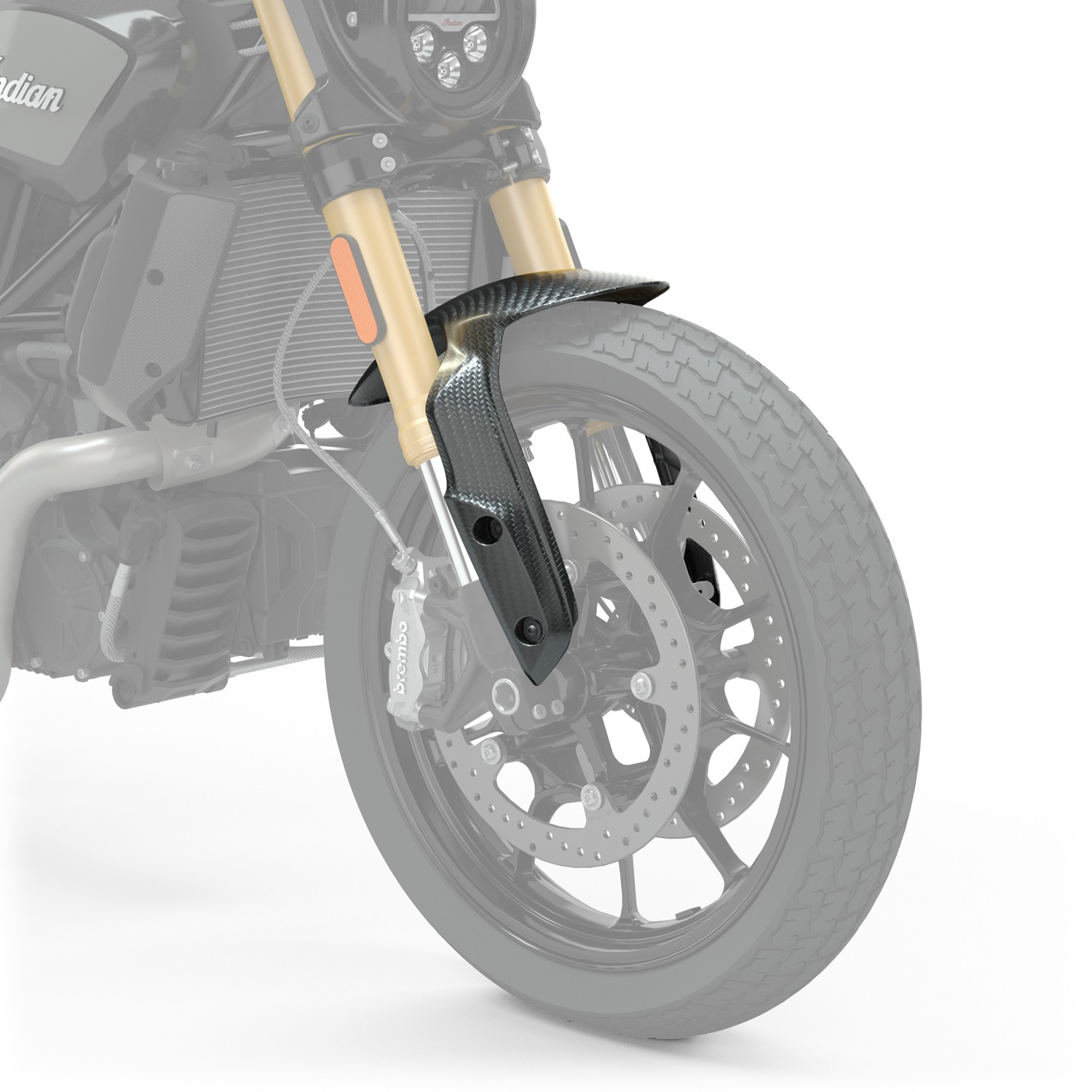 Indian Motorcycle Aparatoare Frontala Din Fibra De Carbon