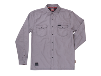 Indian Motorcycle Camasa barbateasca Washed Twill - Gri
