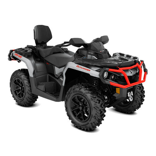 Can-Am Outlander MAX XT 650 Brushed Aluminum Can-Am Red '18
